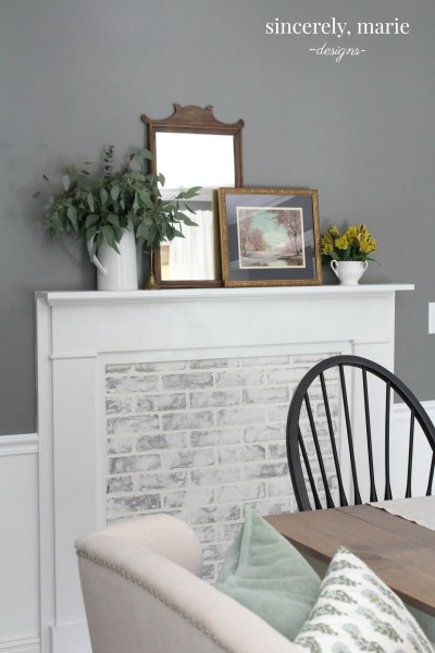 DIY Faux Fireplace and German SmearSmear
