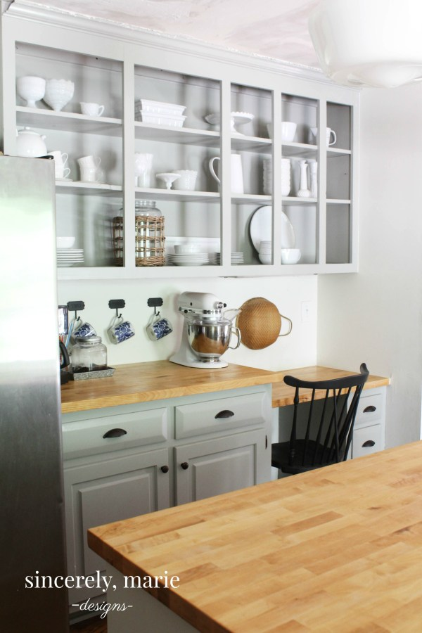 Kitchen Cabinets vs. Opening Shelving - Thoughts on Both on my kitchen floor tile, my kitchen sink, my kitchen counter,
