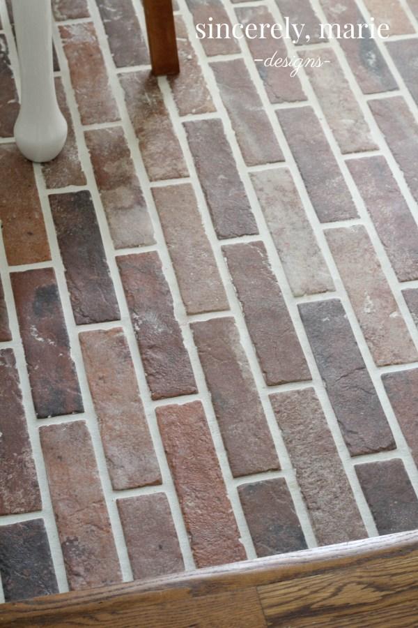 Diy Faux Brick Flooring Sincerely Marie Designs