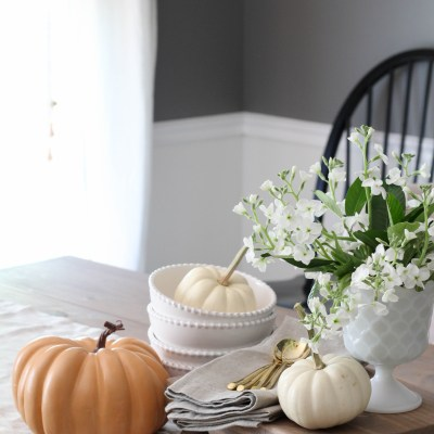 A Fall Vignette & My Natural Pumpkin Paint Colors
