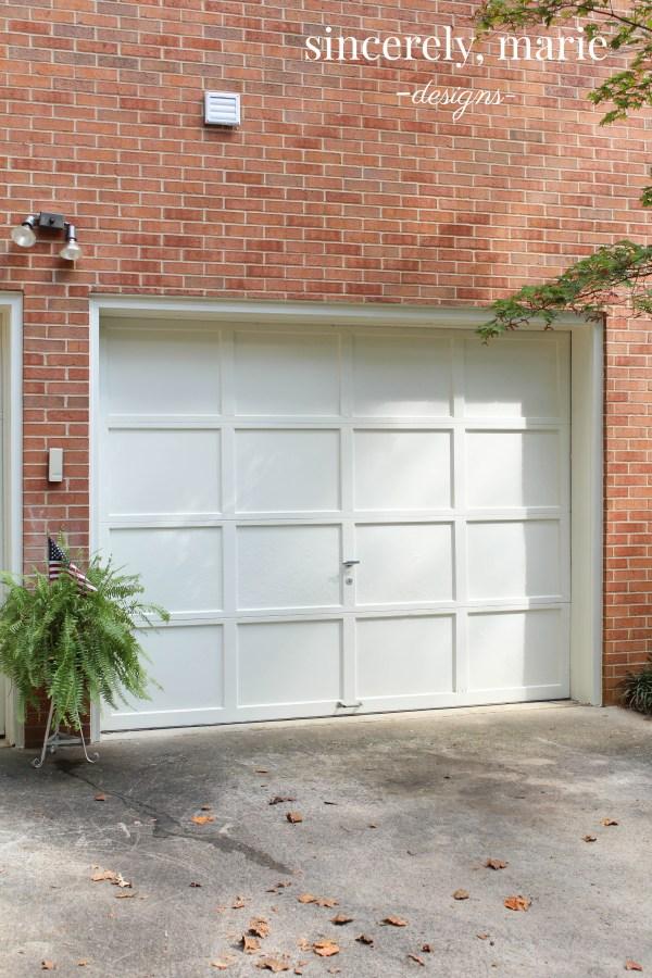 Simple Garage Door Makeover