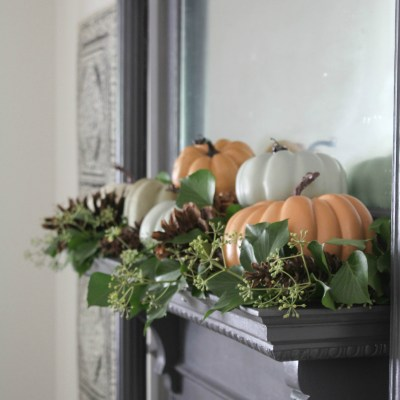 A Natural Autumn Mantel