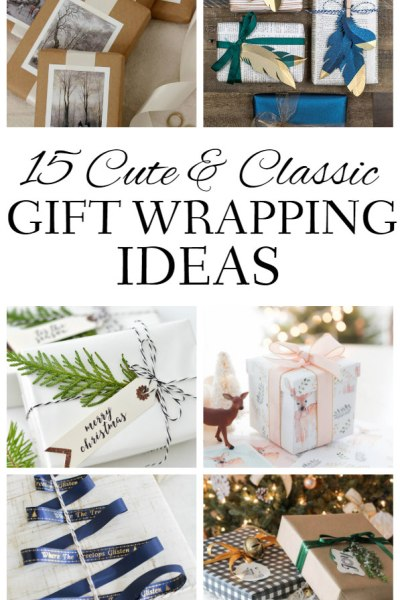 Cute & Classic Gift Wrapping Ideas