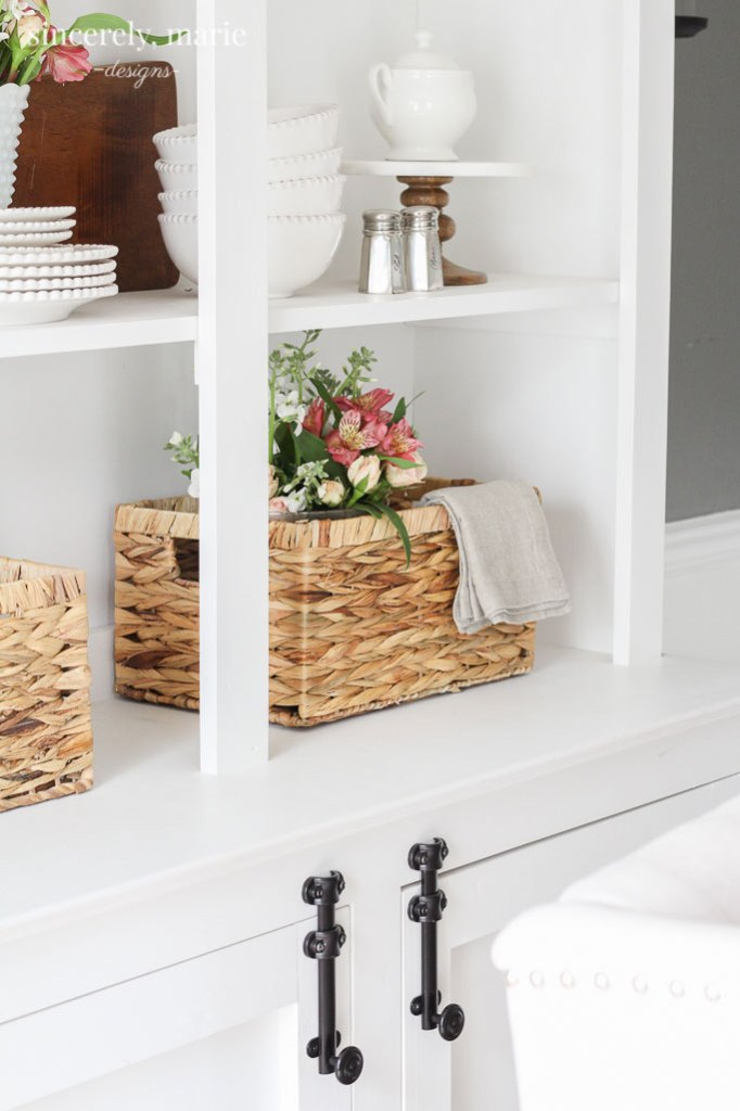 Spring Hutch Decorated in Blush