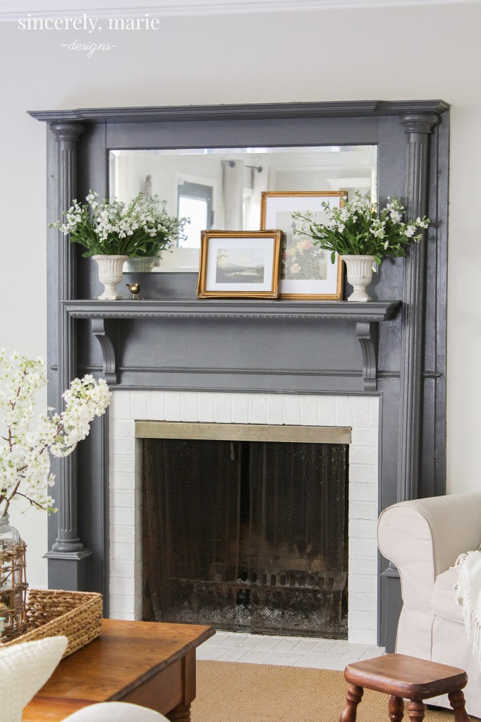 Simple & Classic Spring Mantel