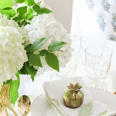 DIY Pressed Fern Napkins