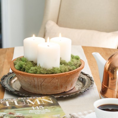 A Simple Candle Centerpiece 3 Ways