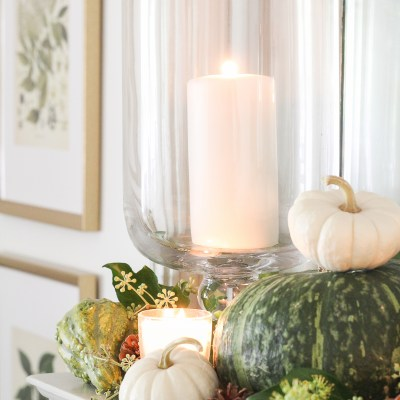 Our Fall Mantel Using Natural Elements of the Season