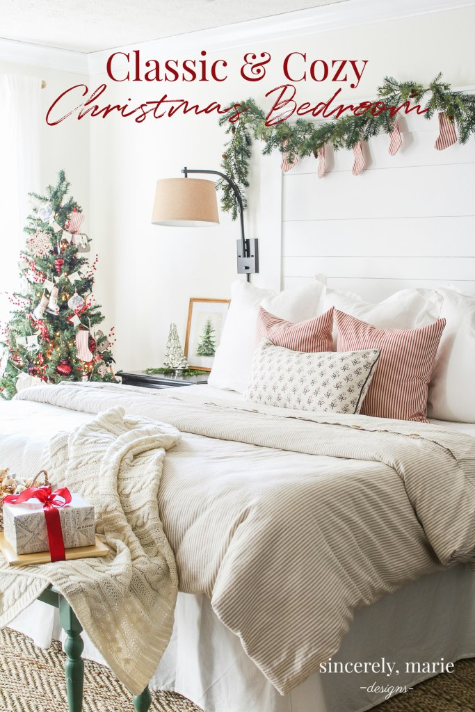Our Classic & Cozy Christmas Bedroom