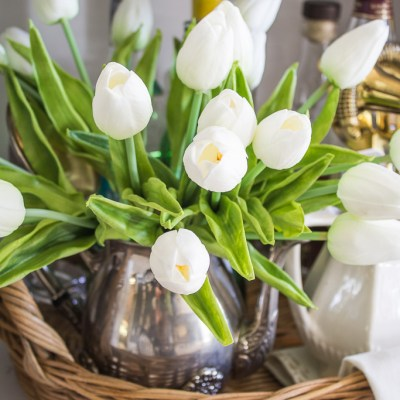 Decorating with Faux Tulips – Cozy Living Series