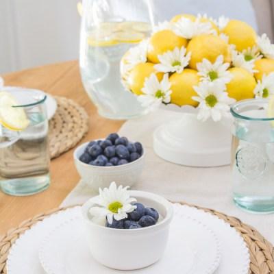A Sunny Lemon Tablescape for Summer