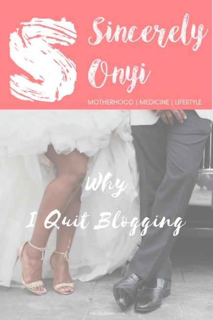 logo joy why I quit blogging african lifestyle blogger