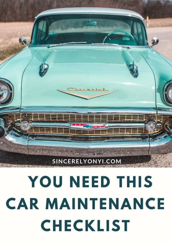 You Need This Car Maintenance Checklist