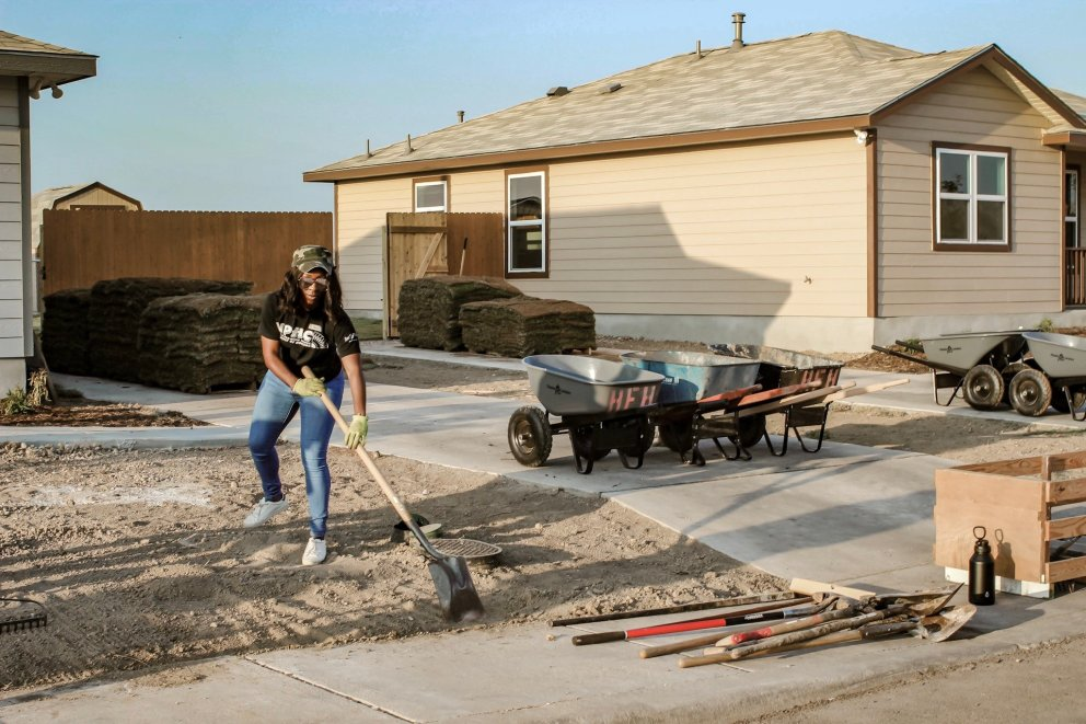 opt for optimism volunteering Habitat for humanity