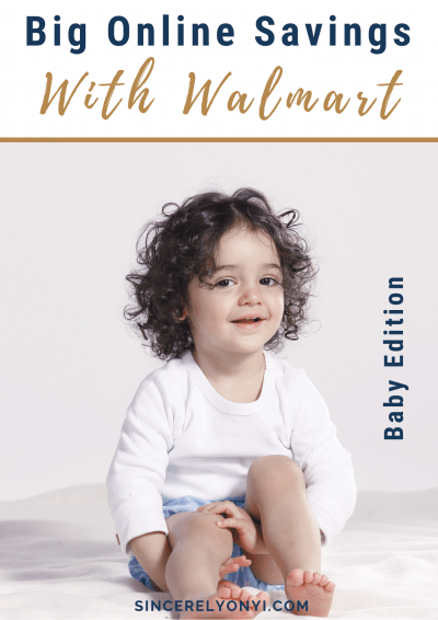 Big Online Savings With WALMART'S Best Of Baby Month!