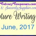 Scripture Writing Plan for June 2017