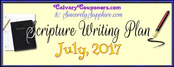 Scripture Writing Plan for July 2017