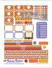 Early Autumn Printable Planner Stickers 7