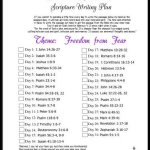 October 2017 Scripture Writing Plan