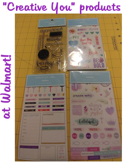 """Creative You"" Planner Stickers and Stamps at Walmart"