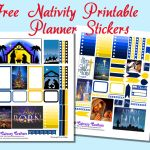 Free Nativity Printable Planner Stickers