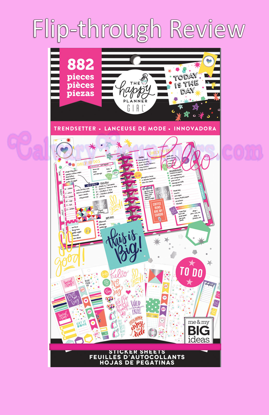 Happy Girl Trendsetter Big Sticker Pack Flip-Through Review Video