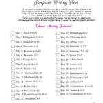 January 2018 Scripture Writing Plan -click here