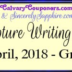Scripture Writing Plan for April 2018