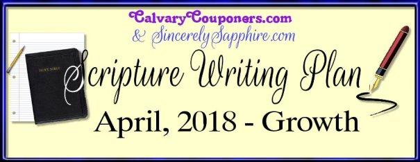 Scripture Writing Plan for April 2018