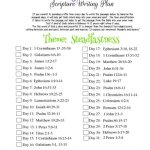 May 2018 scripture writing plan thumbnail