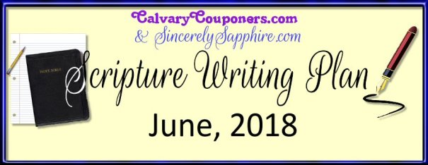 June 2018 Scripture Writing Plan
