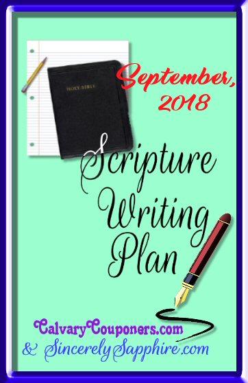Scripture Writing Plan for September 2018
