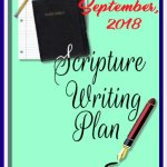 Scripture Writing Plan for September 2018