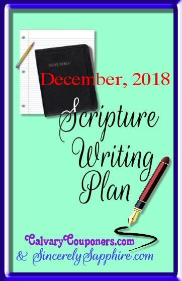December scripture writing plan 2018