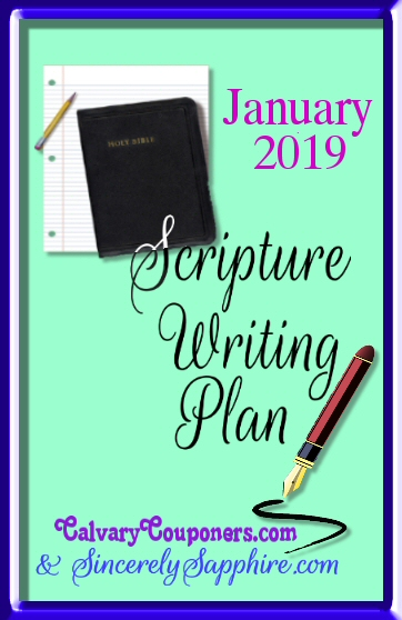 January 2019 scripture writing plan header