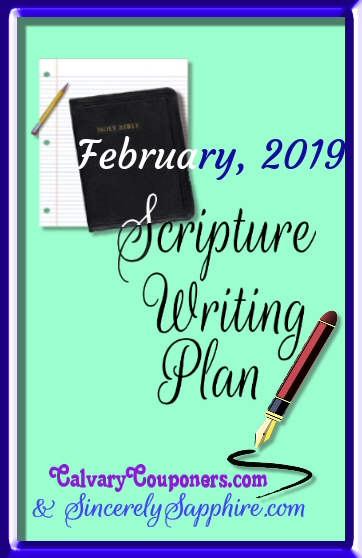February 2019 scripture writing plan