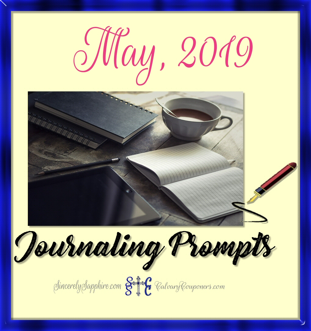 May, 2019 Journaling Prompt Plan
