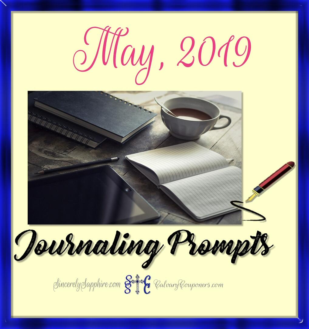 May, 2019 Journaling Prompt Plan