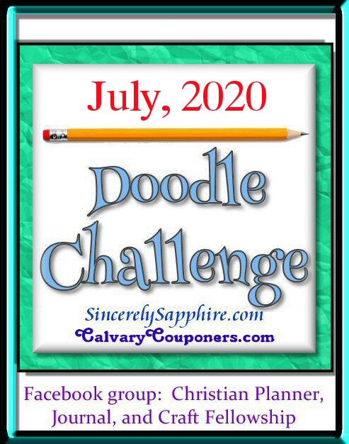 July 2020 doodle challenge header