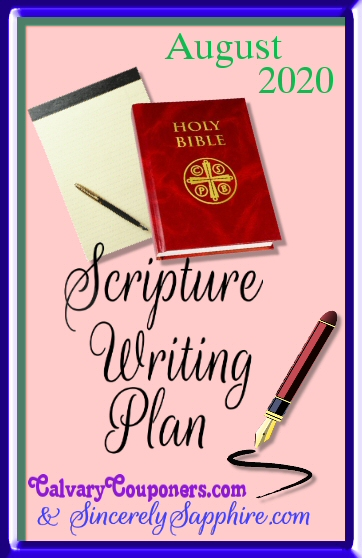 August 2020 scripture writing plan header