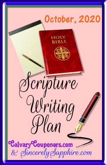 October 2020 scripture writing plan header