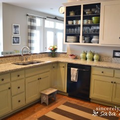Painted Kitchen Cabinets Island Sink Painting With Chalk Paint Update