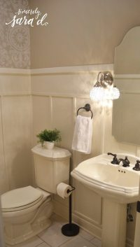 Bathroom Wall Paneling   Sincerely, Sara D.