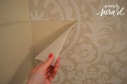 Starched fabric no wall damage