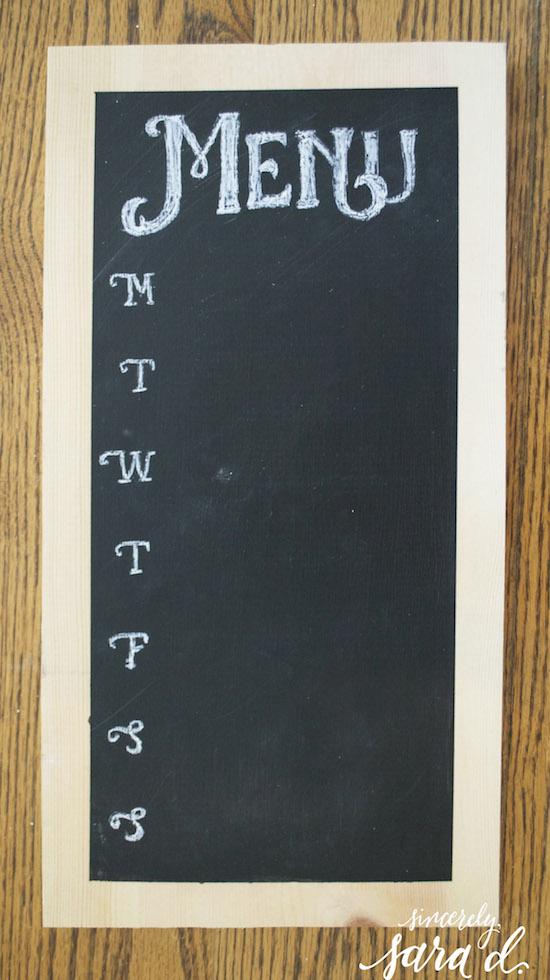 Making a chalkboard