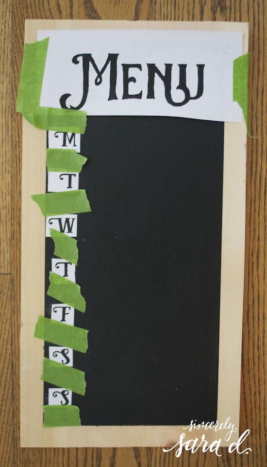 Tutorial for chalkboard dinner panner