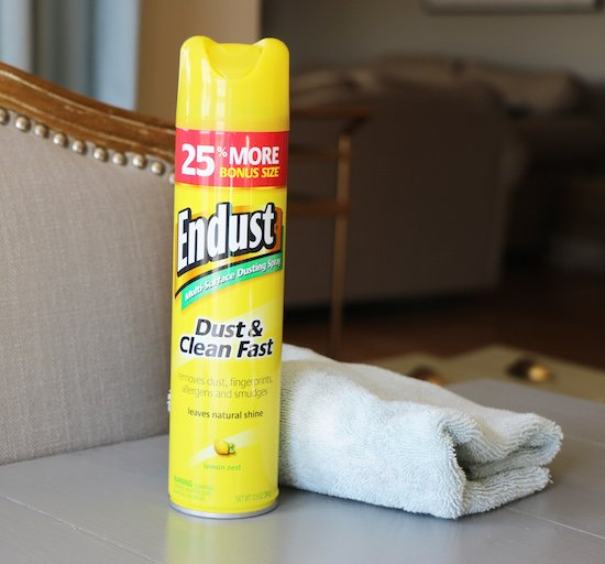 Cleaning with Endust