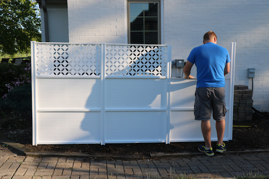 Fencing around air conditioners