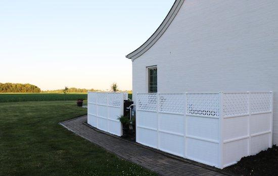 Hiding ugle outdoor units