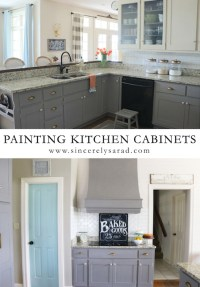Painting Kitchen Cabinets - ALL DONE! - Sincerely, Sara D.
